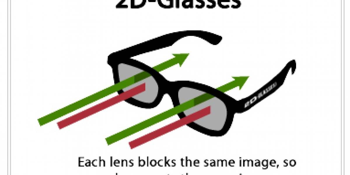 Si no le gusta el cine en 3D, pruebe con anteojos 2D