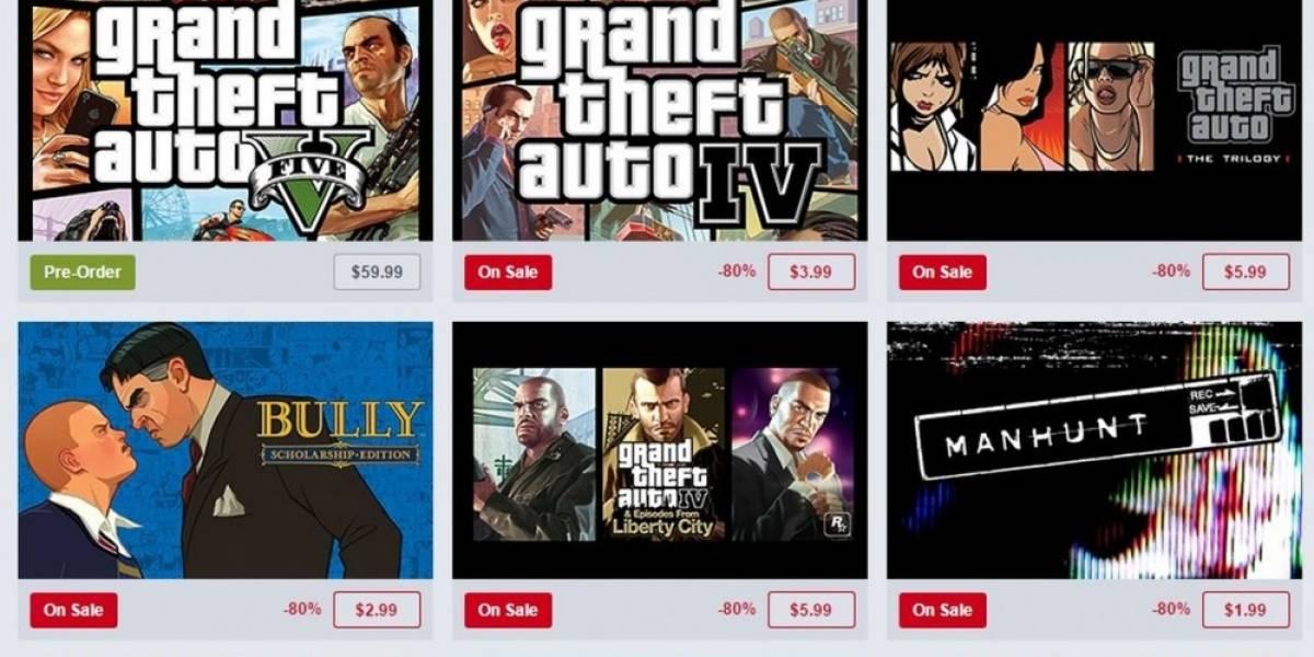 Venta especial de Rockstar Games en Humble Store