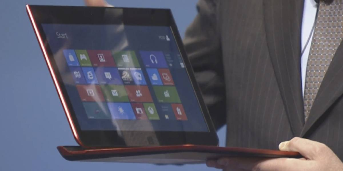Intel muestra un híbrido de tablet y notebook corriendo Windows 8