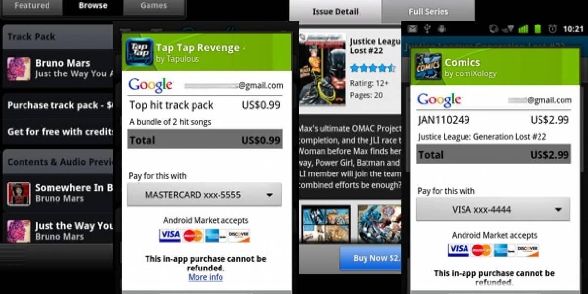 Ahora se puede comprar con tarjeta dentro de las aplicaciones de Android
