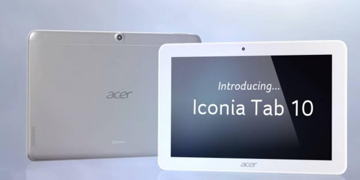 Acer anuncia su tablet Iconia Tab 10