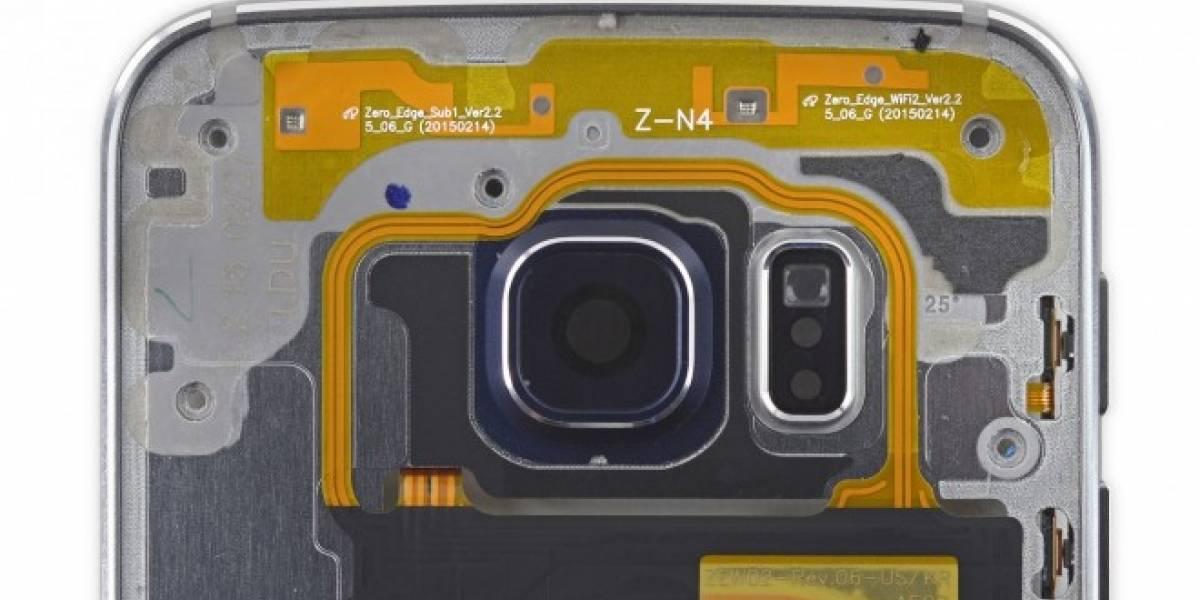 La batería del Galaxy S6 Edge está adherida a la pantalla