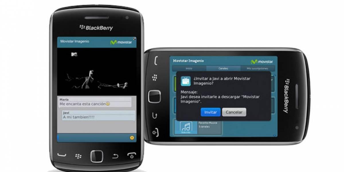 España: Movistar lleva 'Imagenio' a los Blackberry