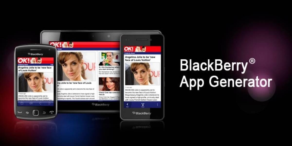10 pasos para crear una aplicación con BlackBerry App Generator