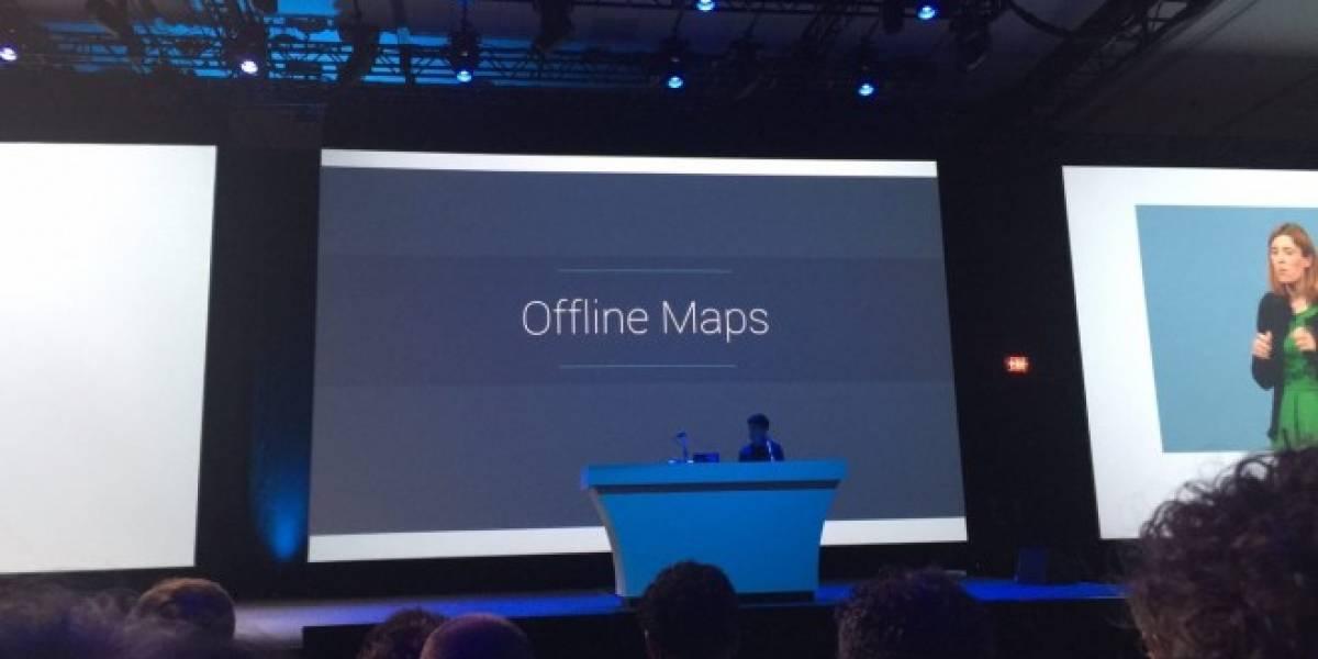 Google Maps podrá ser utilizado sin conexión a Internet #io15