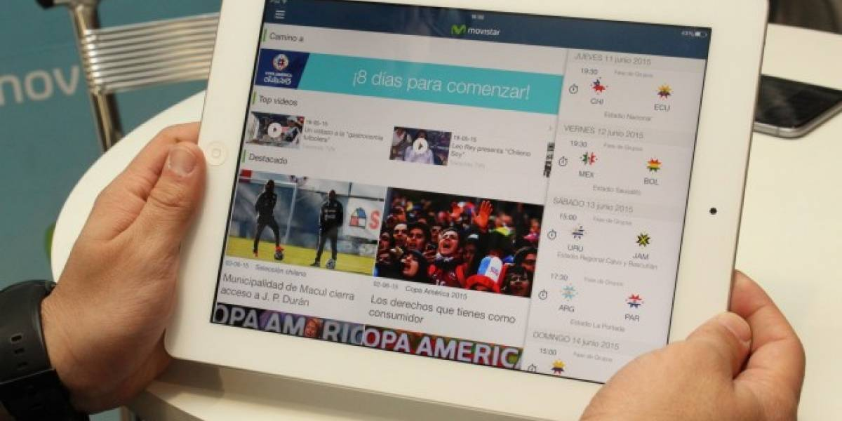 Movistar Chile presenta su nueva aplicación Movistar Copa América