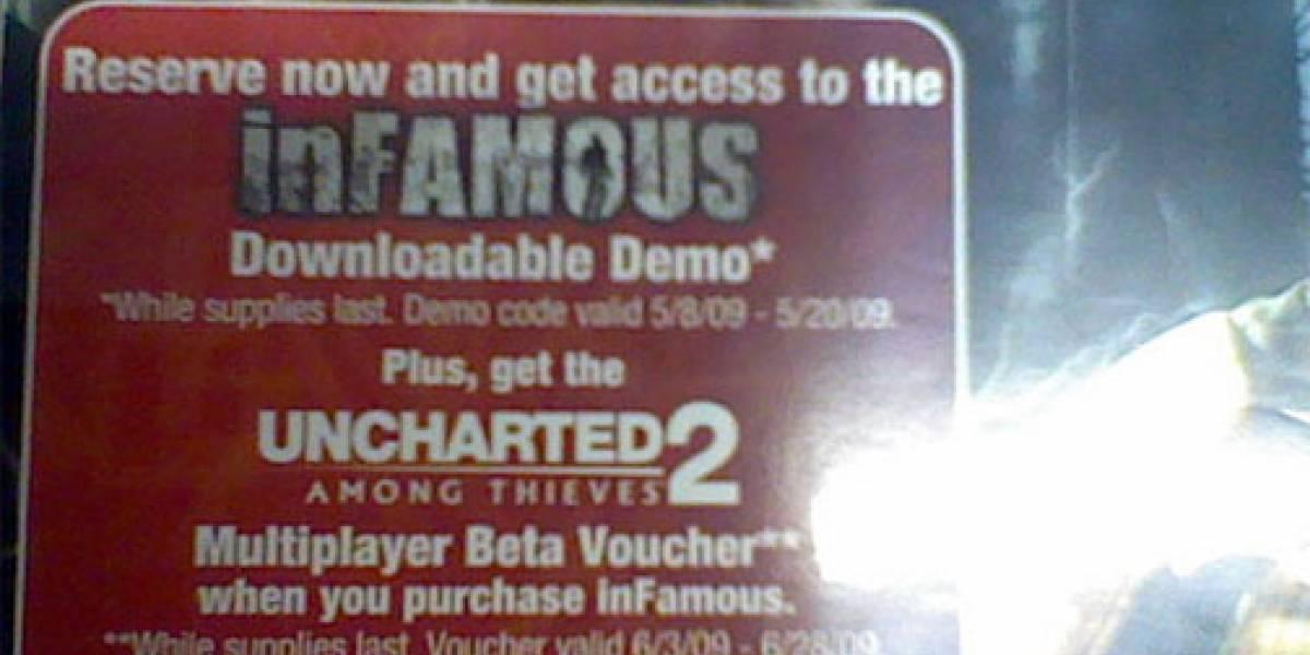 inFAMOUS te permitirá probar el beta multijugador de Uncharted 2
