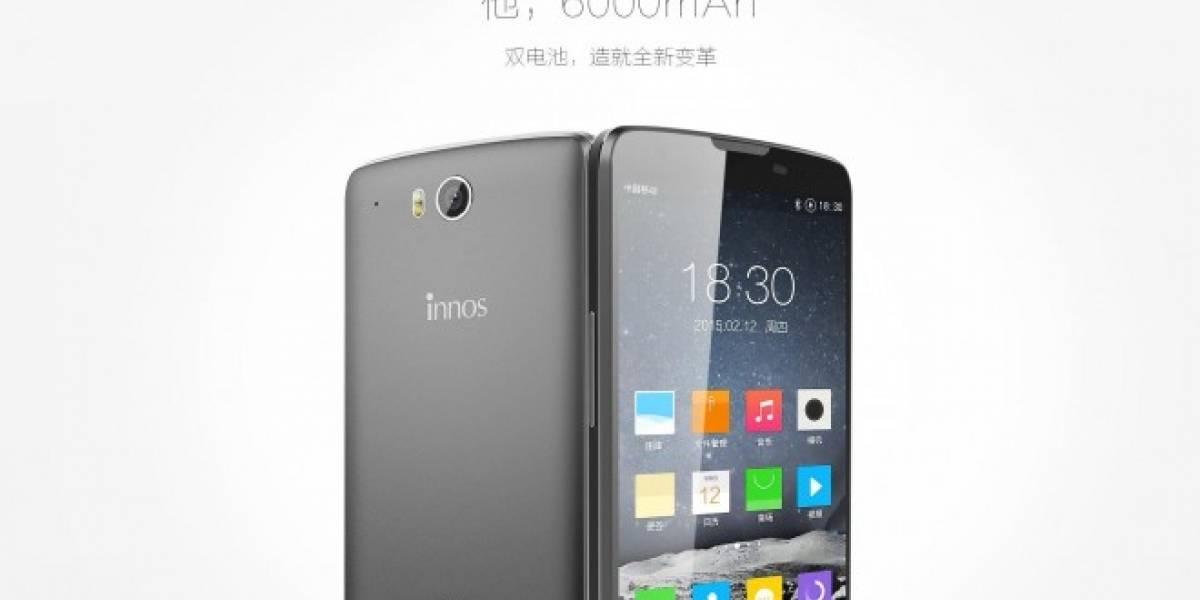 Innos D6000 es un teléfono Android con batería de 6000 mAh