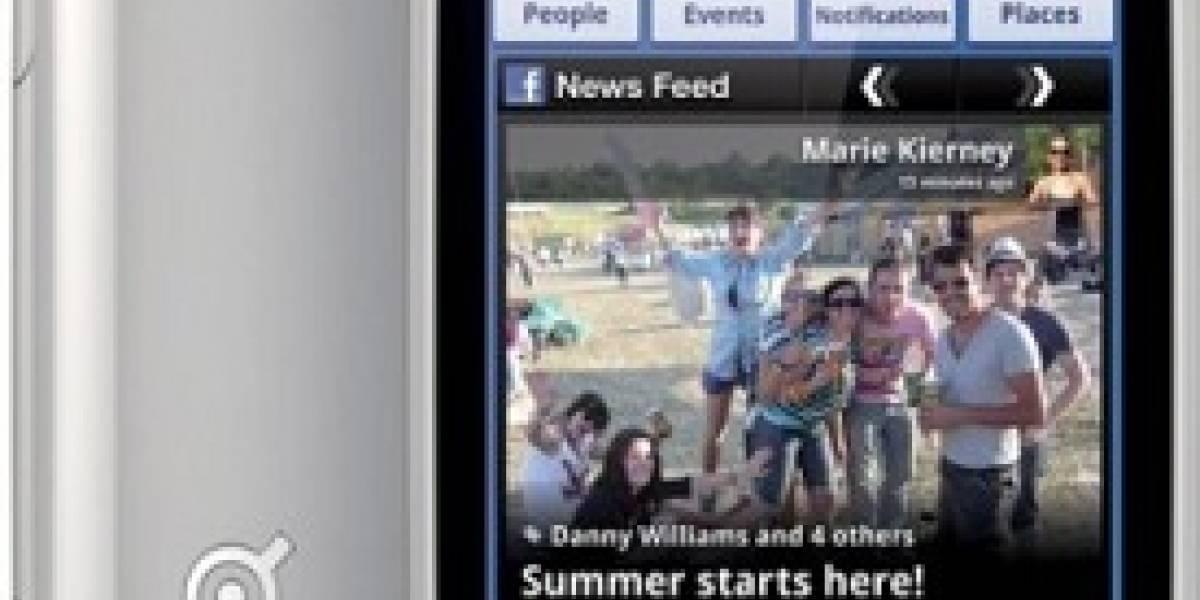 Lanzan primer celular de Facebook, el INQ Cloud Touch