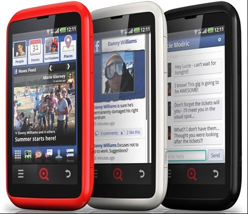 INQ lanza el 'Facebook phone'