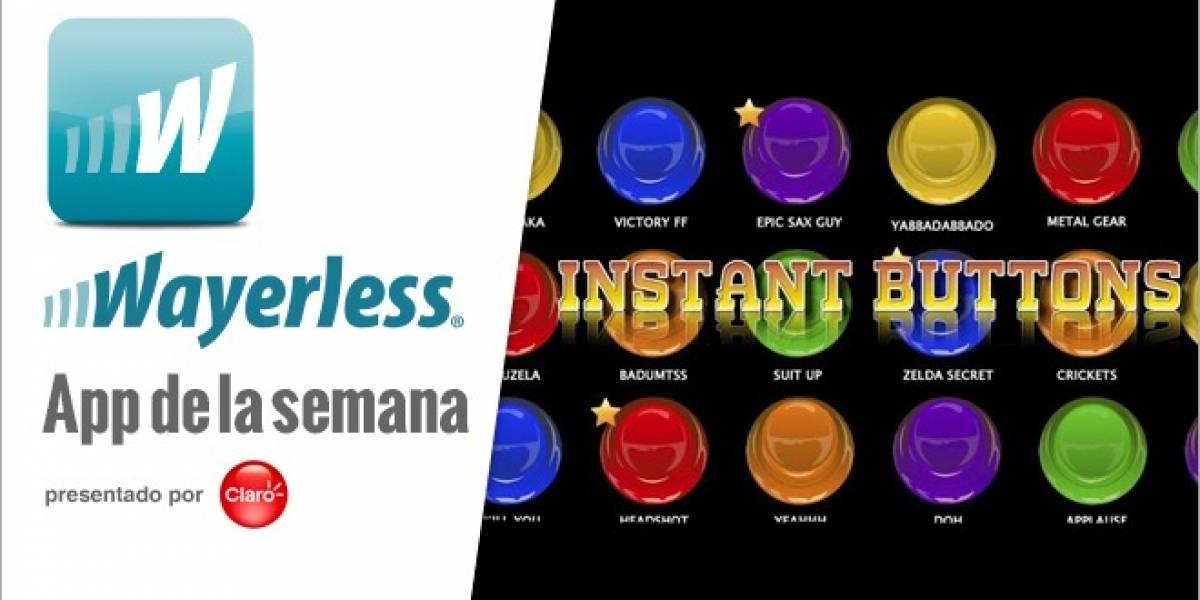Instant Buttons: Un soundboard con una colección de sonidos única