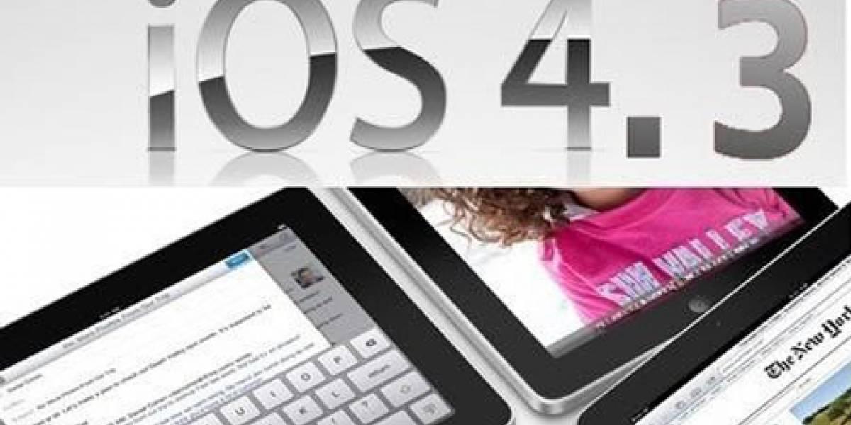 ¿iOS 4.3.1 próximamente?