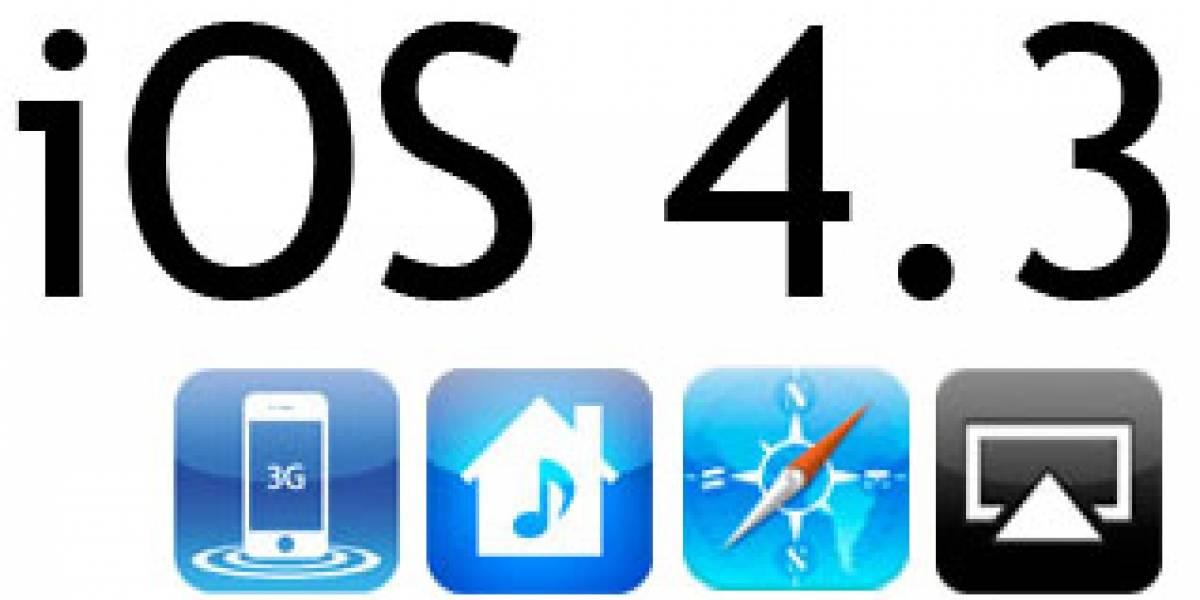 iOS 4.3 aumenta velocidad de navegación un 18% en iPad