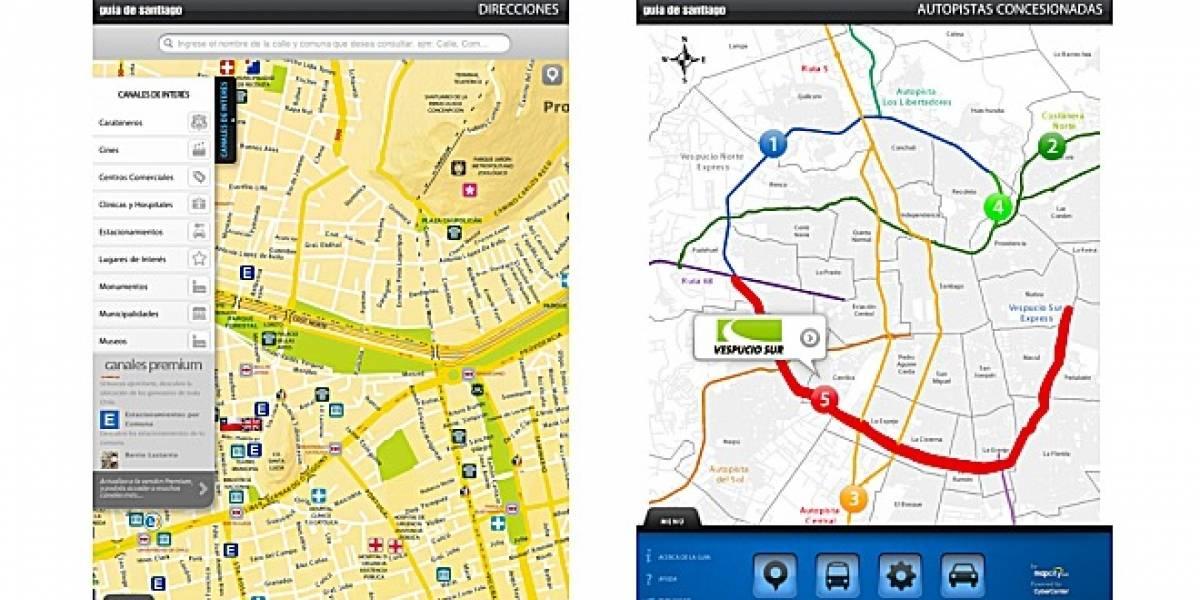 Chile: Mapcity y CyberCenter lanzan Guía de Santiago para el iPad