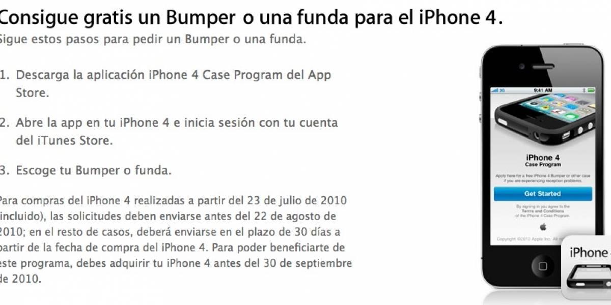 El 30 de septiembre termina parcialmente la entrega de fundas para el iPhone 4