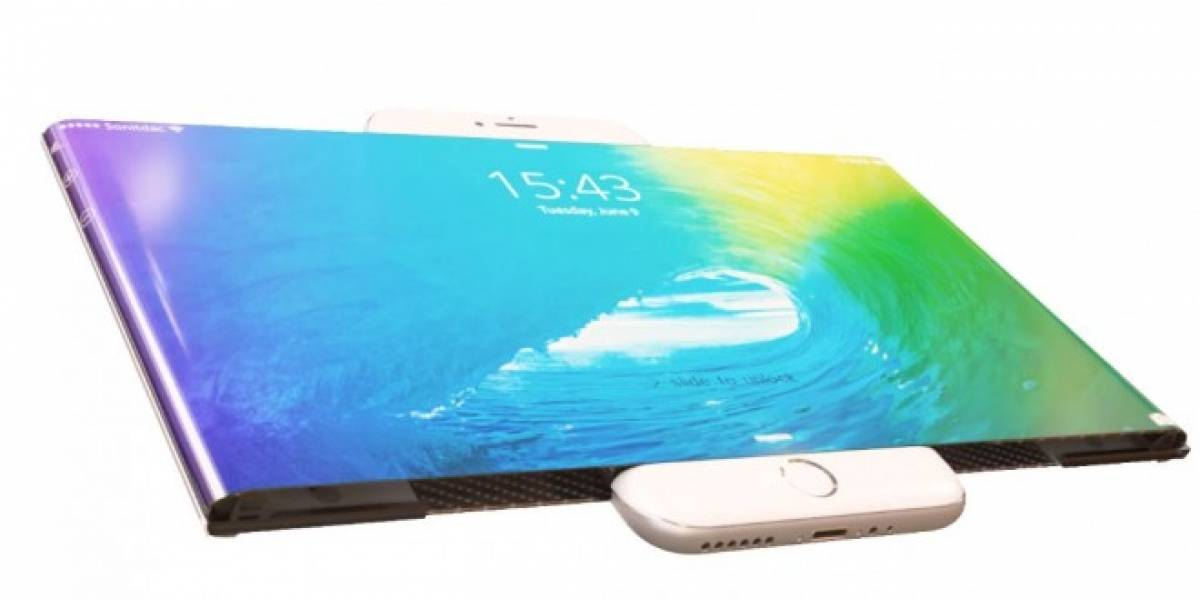 Este video conceptual imagina al iPhone 7 con una gran pantalla flexible