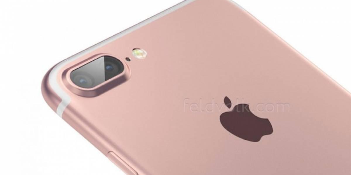 Esta podría ser la apariencia del iPhone 7 con doble cámara