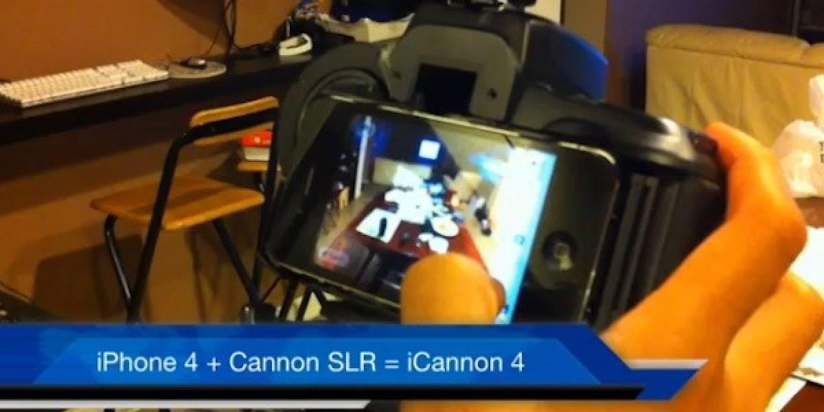 iCanon 4: Un iPhone 4 en el cuerpo de una Canon SLR