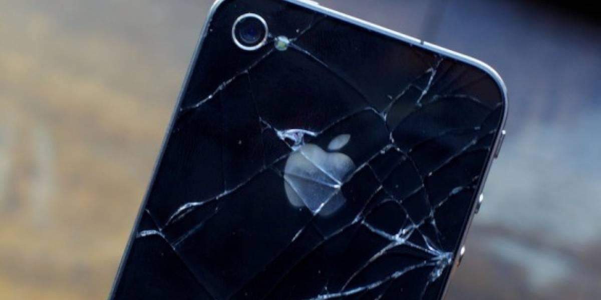 Vidrios quebrados del iPhone 4 prácticamente duplican a los de su antecesor