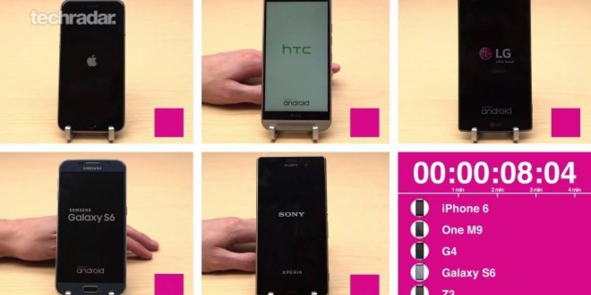 Galaxy S6, iPhone 6, LG G4, Xperia Z3 y HTC One M9 se enfrentan en la prueba de velocidad