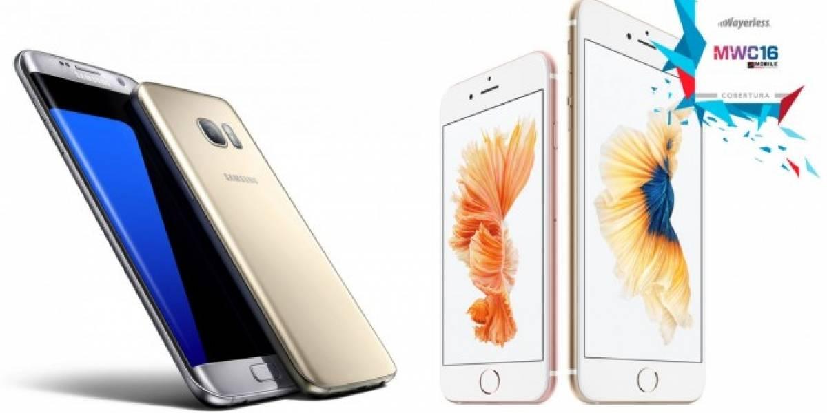 Samsung Galaxy S7 vs iPhone 6s #MWC16