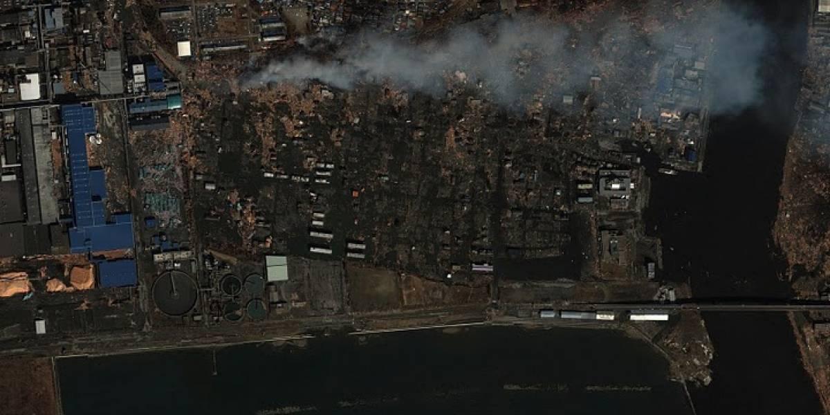 Imágenes de Google Earth antes y después del Tsunami en Japón