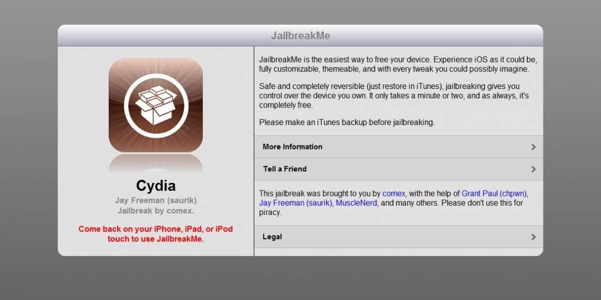 JailbreakMe para iPad 2 funciona, sólo necesitas tu navegador