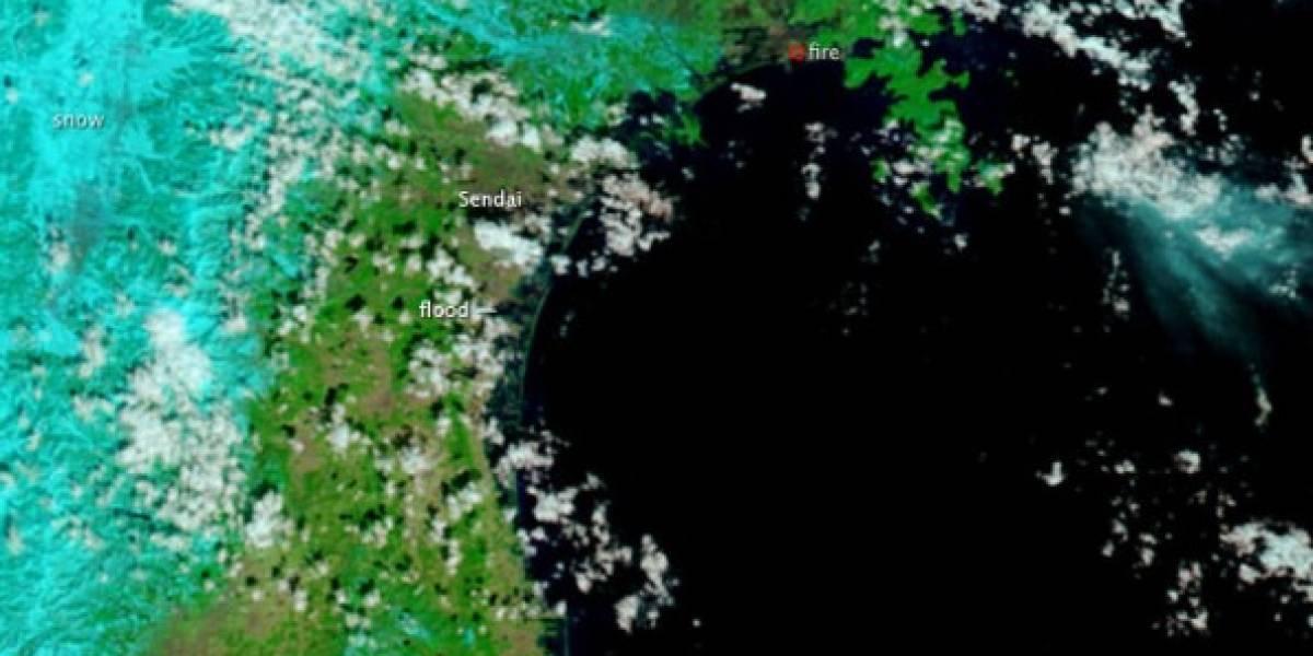 Japón: Imágenes satelitales demuestran la fuerza del Tsunami