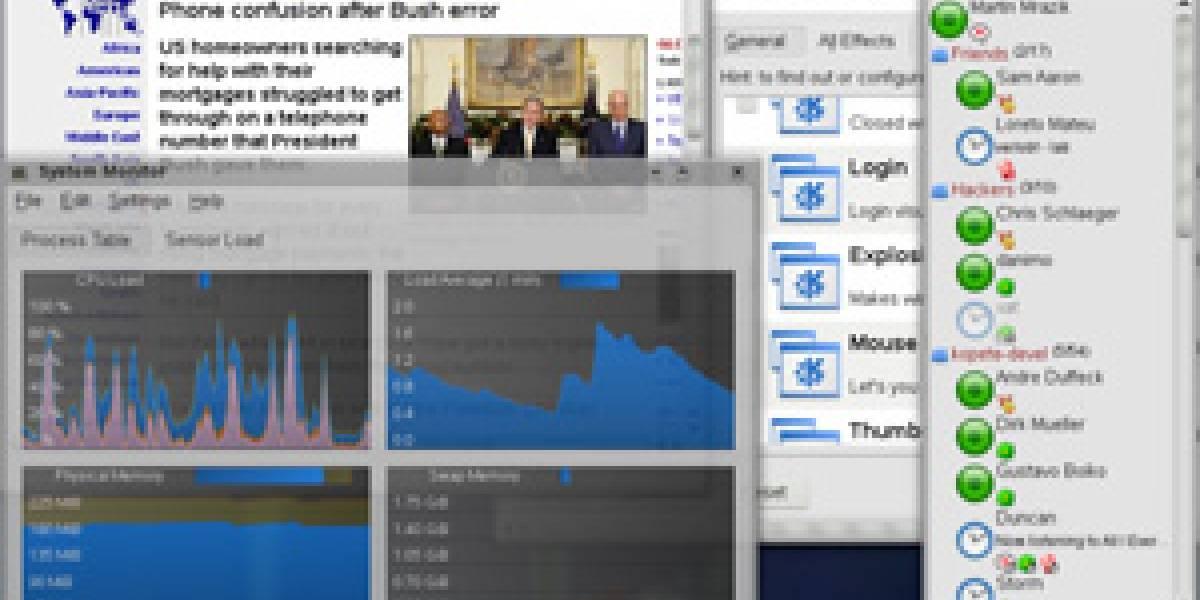 KDE 4: 40% menos de memoria que KDE 3.5