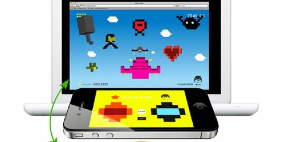 kijjaa! Utiliza el iPhone para conducir una nave en una pantalla externa