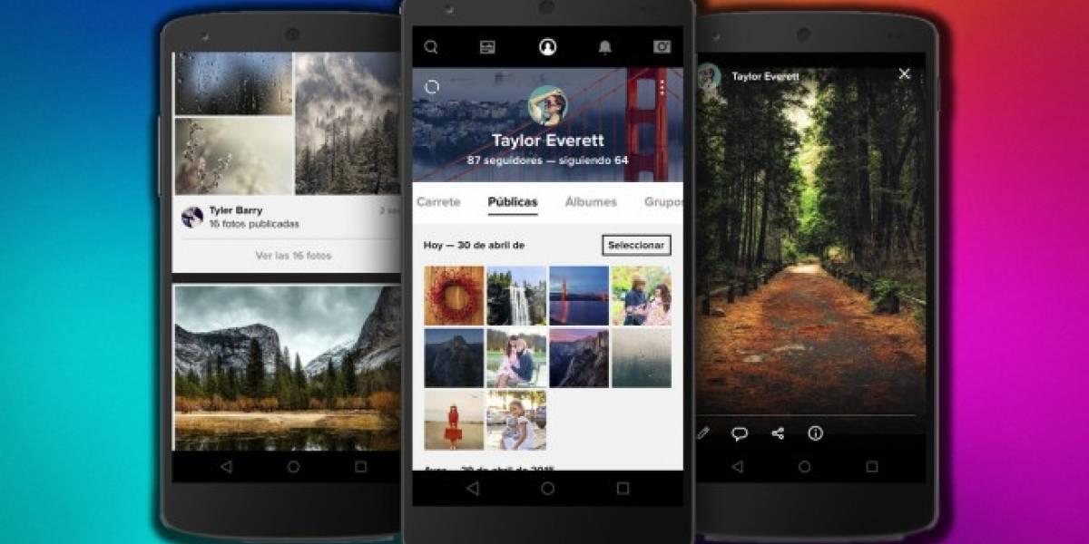 Las apps de Flickr se actualizan a lo grande con soporte de nube