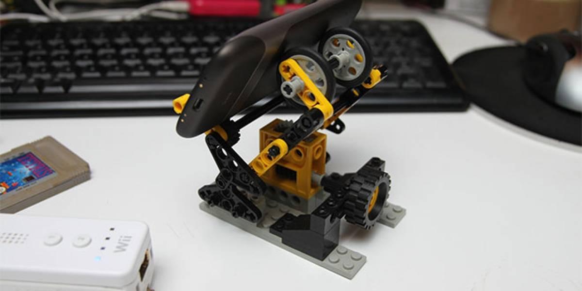 Construye con Legos tu propio soporte para móviles