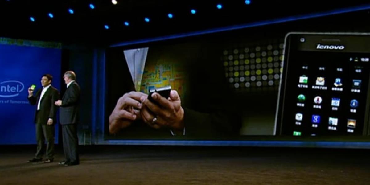 CES 2012:  Intel y Lenovo presentan el primer smartphone que usará el chip Atom Medfield