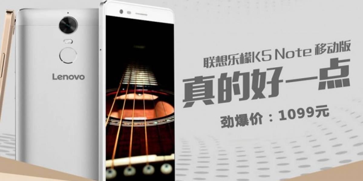 Lenovo K5 Note es un phablet de 5,5 pulgadas con chip MediaTek