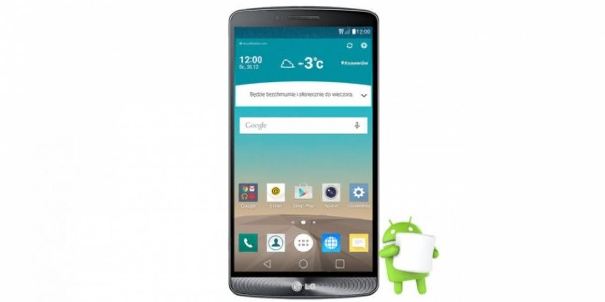 LG G3 comienza a recibir Android 6.0 Marshmallow