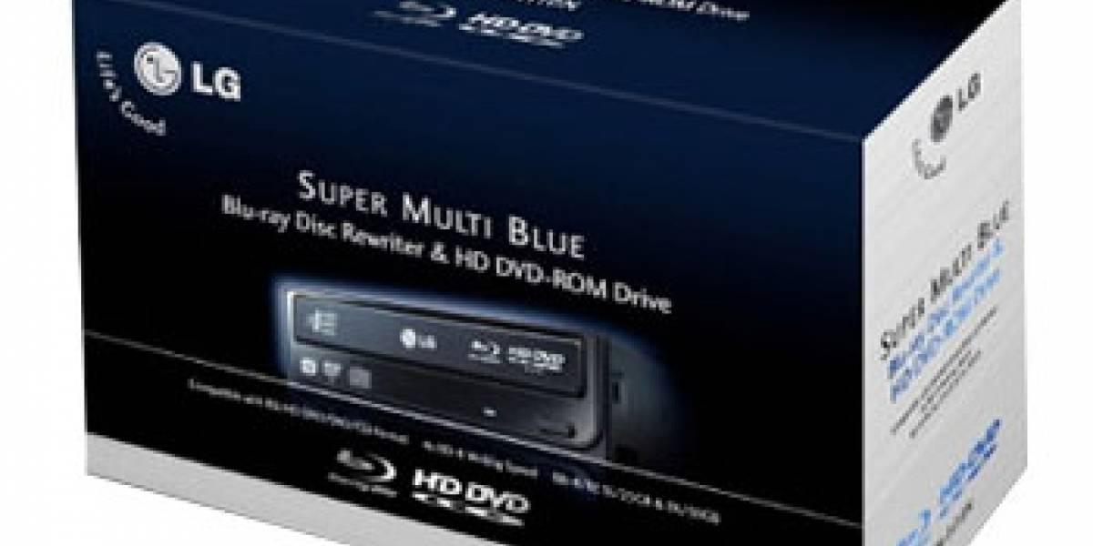 LG lanza quemador Blu-ray y lector HD DVD en Chile
