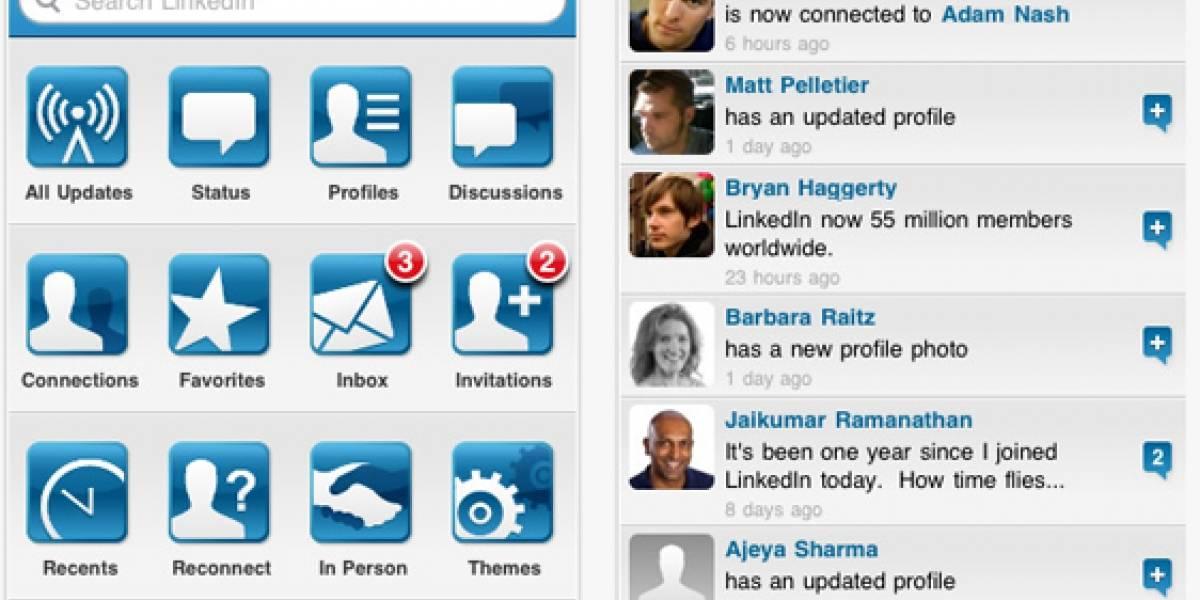LinkedIn se pone guapa para el iPhone