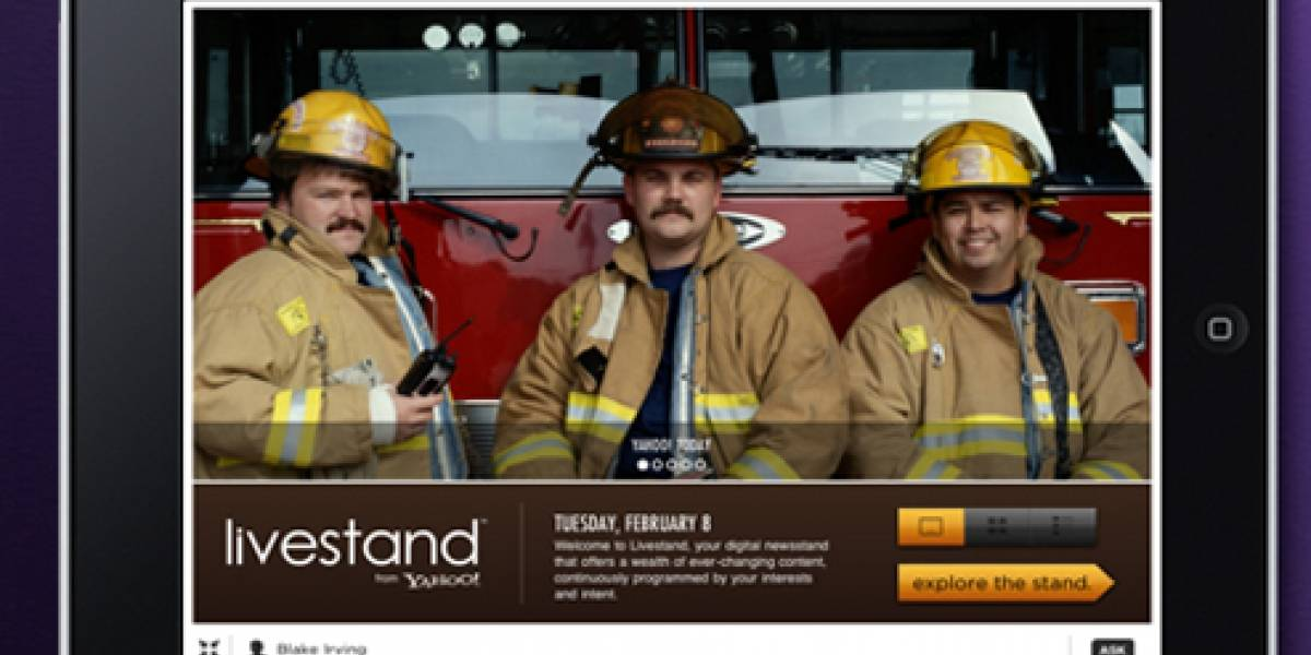 """Yahoo lanza """"Livestand"""" un quiosco de contenidos digitales"""