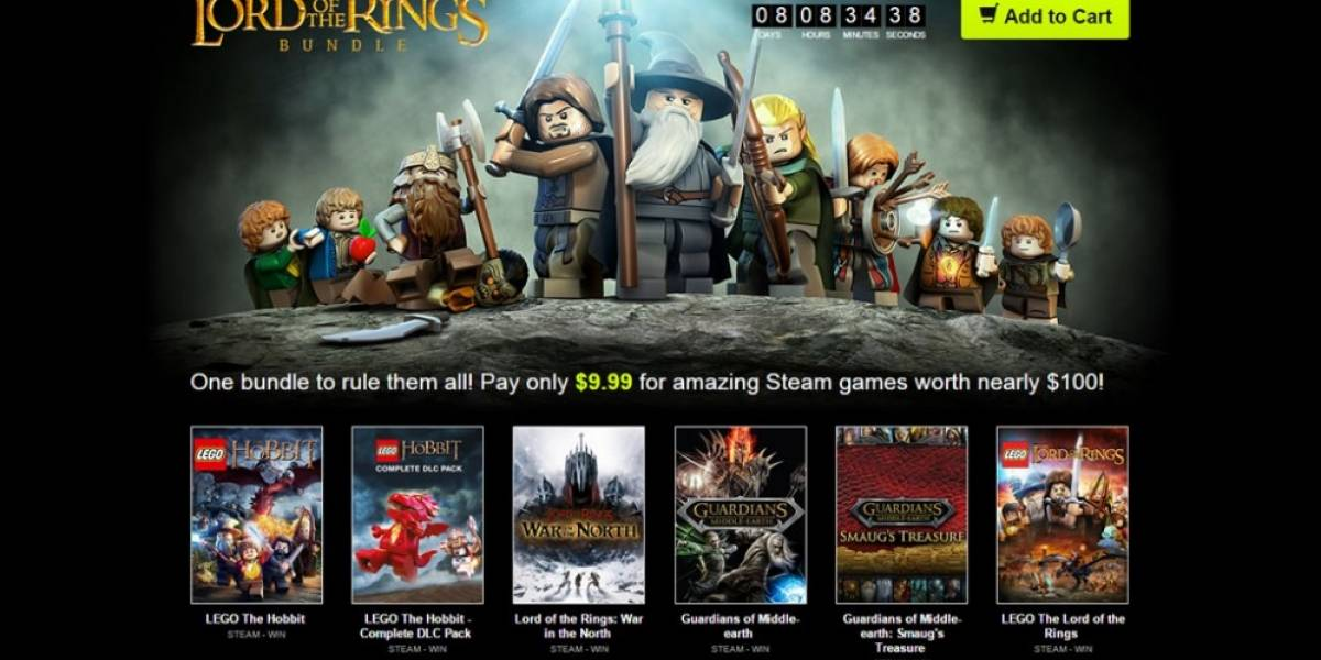 Se lanza bundle con juegos de Lord of the Rings en 10 dólares