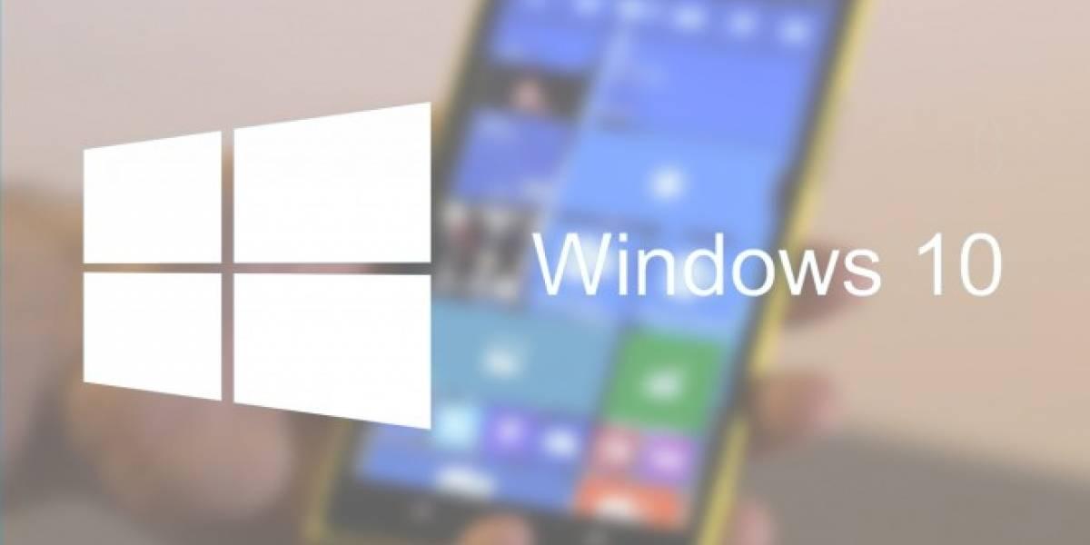 Versión filtrada de Windows 10 para móviles muestra nuevas opciones y animaciones