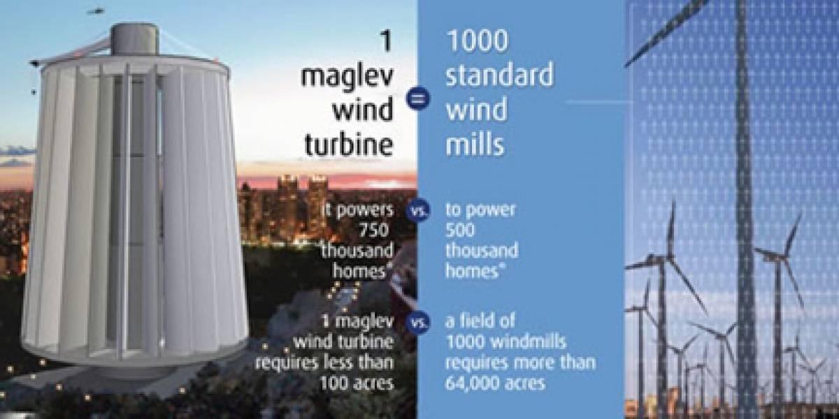 Turbinas de viento MagLev son mil veces más eficientes que molinos de viento tradicionales