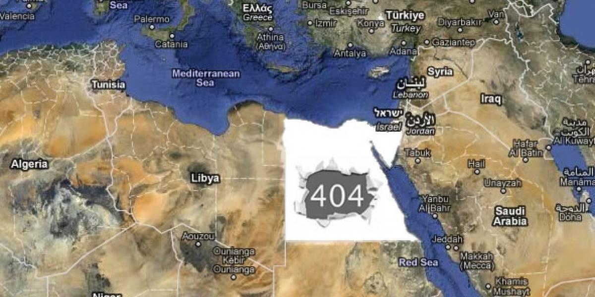 Es oficial: Egipto ya no está en Internet