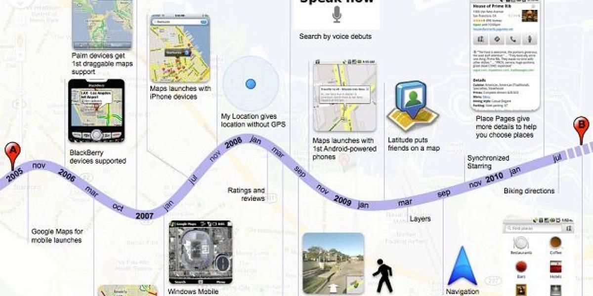 Google Maps para móviles alcanza los 100 millones de usuarios