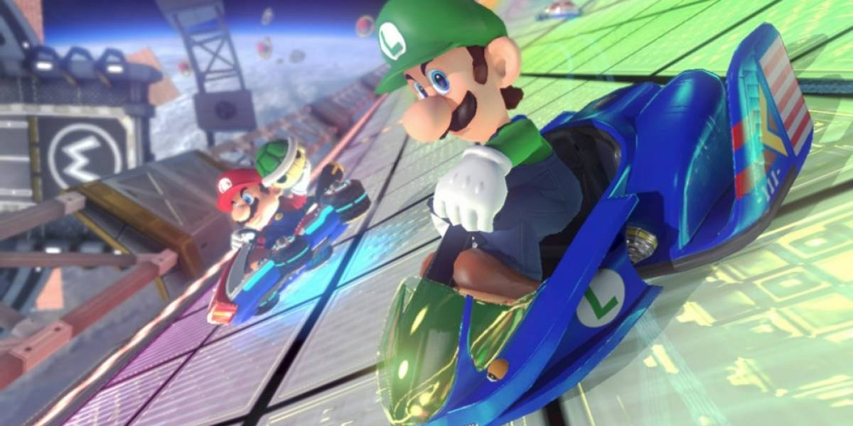 Así se ve el modo 200cc en la pista de F-Zero de Mario Kart 8
