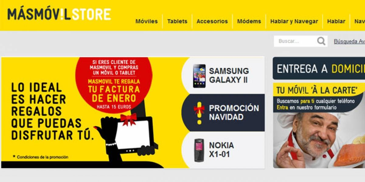 España: Másmóvil lanza su tienda en Internet