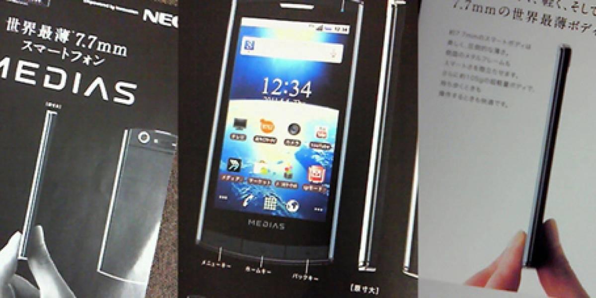 Smartphone ultra delgado llega al mercado japonés