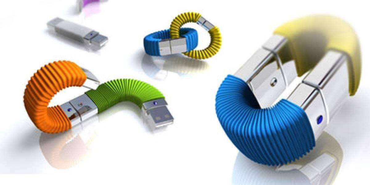 Concepto: Disco USB Memory Infinite