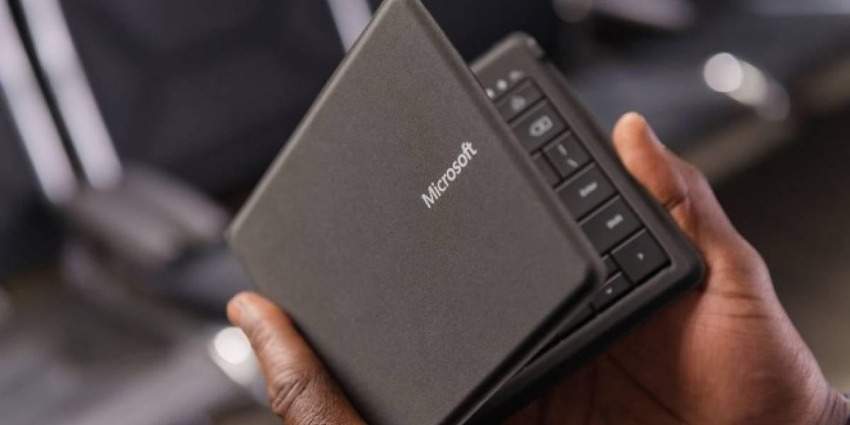 Microsoft lanza teclado Bluetooth plegable para dispositivos móviles por USD 99,95