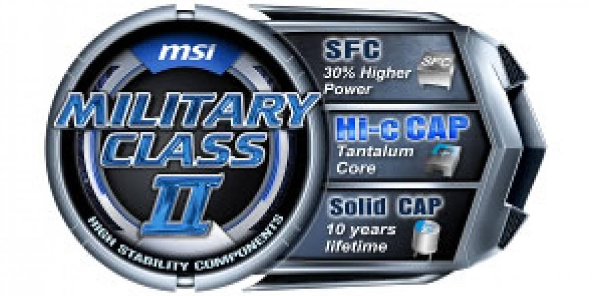 CTX2011: MSI presenta los primeros productos Clase Militar II de la Industria