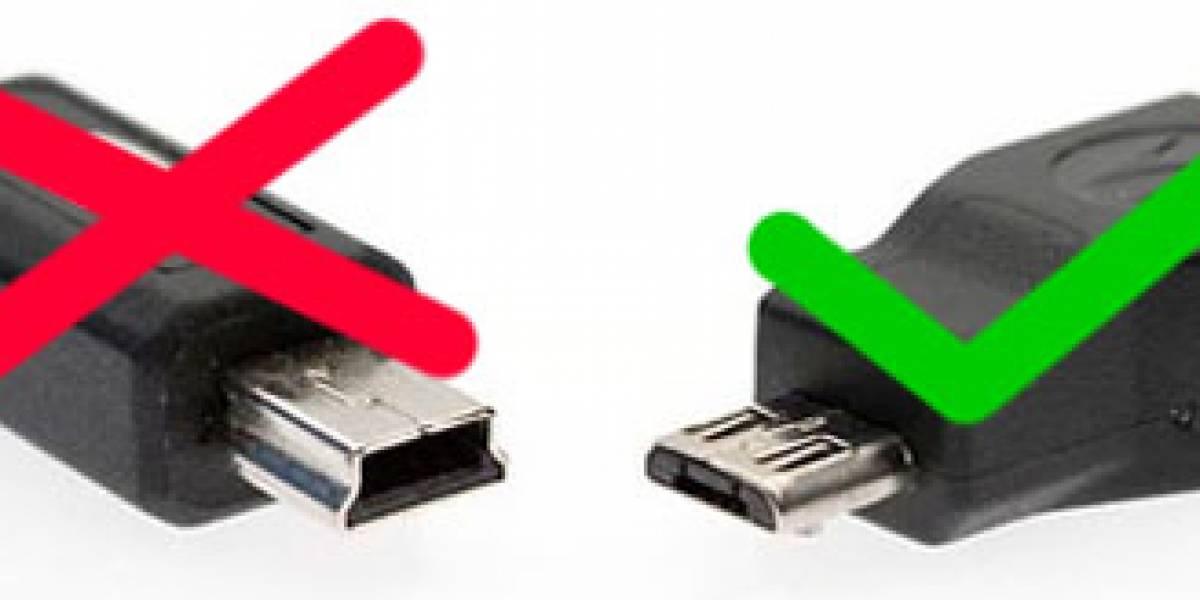 Puertos micro USB adoptados como estándar para cargar celulares
